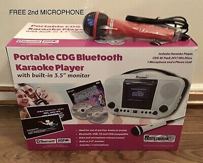 £60 • Buy Karaoke Machine + Extra Free Microphone Portable CDG Bluetooth Comparable