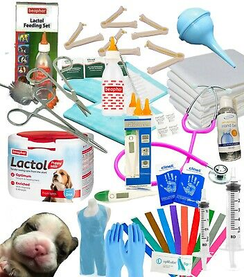 Complete Deluxe Whelping Supplies Kit Lactol Puppy Milk Dog Warwick Whelping Box • 32.95£
