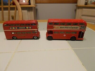$ CDN12.55 • Buy Two CORGI London Transport  Double Decker Bus BTA - Welcome To Britain - Outspan