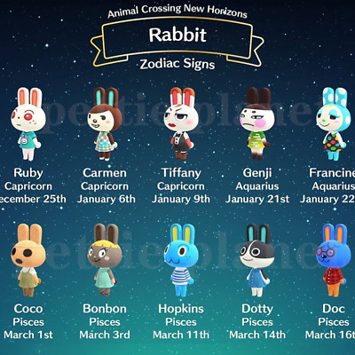 AU10 • Buy Rabbit Villagers Pack! - NFC Amiibo Cards - ACNH Tested