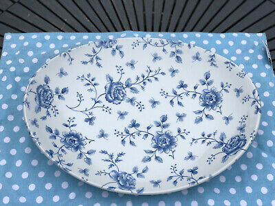 Rare Churchill China Vintage Blue Rose Oval Plate • 10£