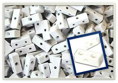 White Modesty Mod Blocks Kitchen Cabinet Cupboard Fixing Joint Connector Blocks • 2.45£