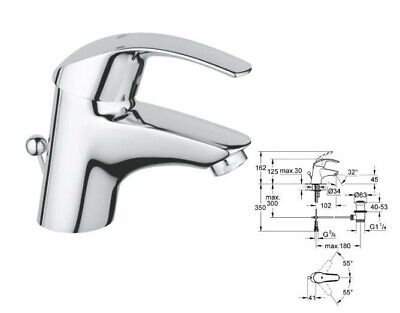 Grohe Eurosmart Mixer Tap & Pop Up Trap • 50£