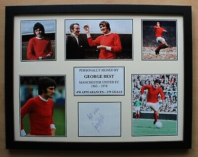 George Best Signed Manchester United Multi Picture Career Display (20203) • 130£