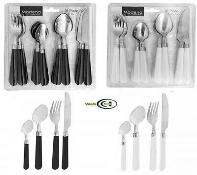 16 PC Modena Ravenna Stainless Steel Cutlery Sets With Coloured Plastic Handled • 5.99£