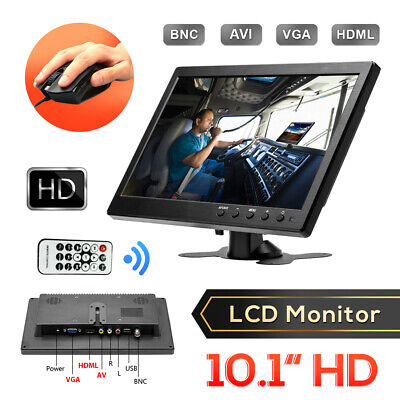 10.inch Car TFT LCD Monitor BNC AV VGA HDMI Input Speaker Display Mini TV /PC UK • 52.99£