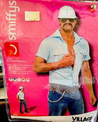 Village People Construction Worker Fancy Dress Ymca Stag Party 1980's • 29.99£