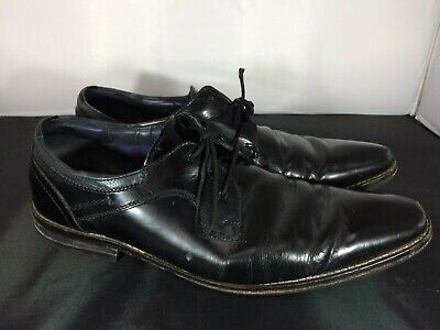Mens Goodwin Smith Black Leather Formal Lace Up Shoes Size UK 10 #FC19-CF • 4.35£
