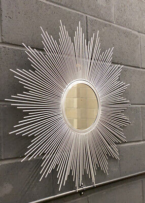 Silver Sunburst Large Accent Wall Mirror, D86cm 'Similar To Wayfair RRP £229 • 85£