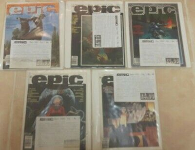 £42.99 • Buy Lot Of 5 Epic Illustrated Nos 9.12.13.17 &18. In Original Sleeves. Rare.