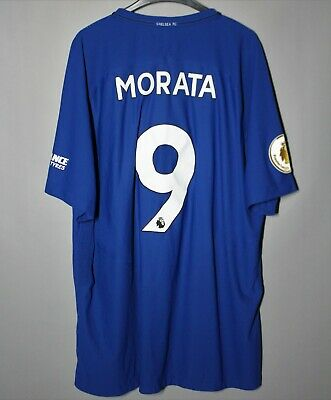 Chelsea London 2017/2018 Player Issue Home Football Shirt Jersey #9 Morata • 139.99£