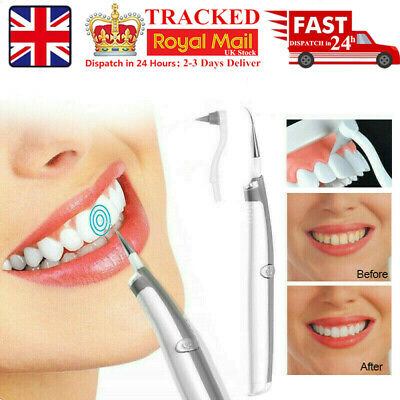Electric Sonic Dental Tooth Stain Polisher Whiten Plaque Eraser Remover OralCare • 4.78£