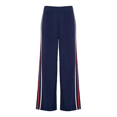 Avon Ladies Navy/White/Red Coveted Lalana Wide-Leg Trousers Size 14/16 • 14£
