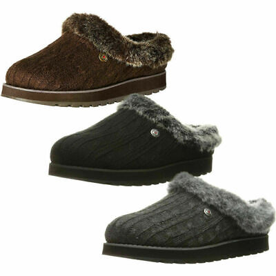 Skechers Ladies Memory Foam Slippers 'Ice Angel' • 39£
