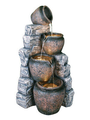 4 Pots On Blue Slate Water Feature • 249.98£