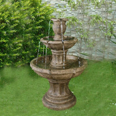 3 Tier Classic Stone Fountain Water Feature • 289.97£
