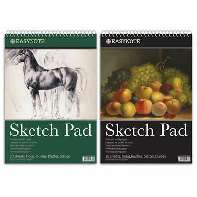 A3 Artists Easynote Sketch Pad - Quality Strong Paper 20 Pages Drawing Spiral • 5.59£
