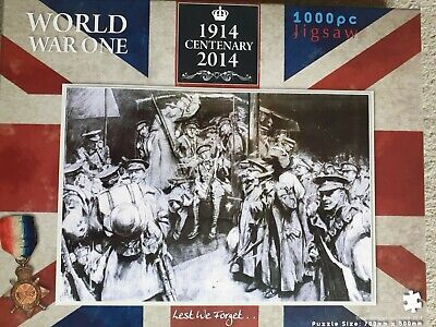 World War One 1000 Piece Jigsaw Puzzle 1914-2014 Centenary Troops Setting Off... • 1.50£