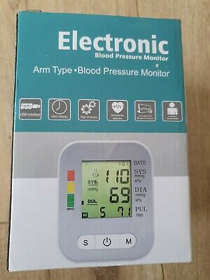 LCD Automatic Digital Blood Pressure Monitor Upper Arm Electronic BP Machine • 6.90£