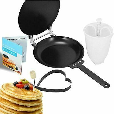 Crepe Pancake Maker Waffle Omelette Easy Flip Pan Frying Free Batter Dispenser • 9.49£