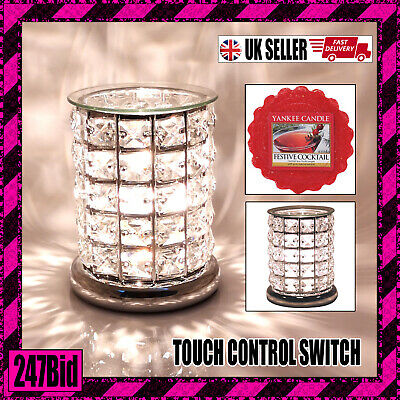 Electric Wax Melt Burner With Touch Control - Clear Crystal + Yankee Candle Melt • 23.99£