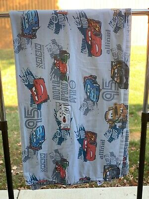 Walt Disney CARS 2 LIGHTNING MCQUEEN Francesco Mater Full Flat Sheet Pre-Owned • 9.62£