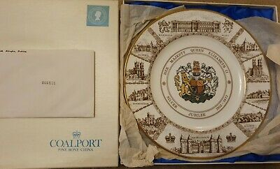 Coalport 1977 Queens Silver Jubilee Commemorative Plate – Boxed With Certificate • 5£