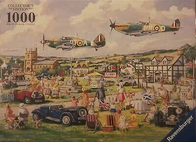 Remembrance Day Flypast Jigsaw Puzzle 1000 Spitfire WWII RAF  • 6£