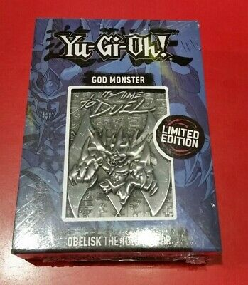 AU45 • Buy Yu-Gi-Oh! God Monster Obelisk Metal Card Limited Edition - Individually Numbered