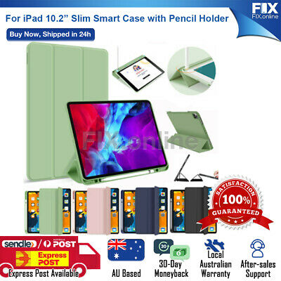 AU19.98 • Buy For IPad Pro 11 / 10.2 2019 7th 6th 5th Gen Pencil Holder PU Leather Soft Case