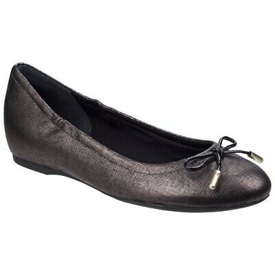 Rockport Womens/Ladies Tied Leather Ballet Shoes FS5537 • 75.69£