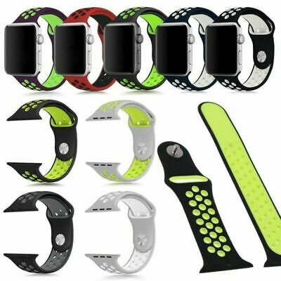 $ CDN7.67 • Buy Unisex Apple Watch Strap For Series 4 3 2 1 38/40/42/44mm Silicone Band Bracelet