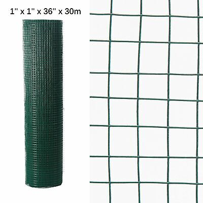 Fencing Mesh Garden Green PVC Coated Galvanised Fence Chicken Wire Aviary Posts • 48.49£