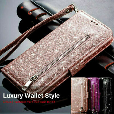 AU9.06 • Buy Case For IPhone 11 Pro Max 6s 7 8 Xr Luxury Glitter Leather Flip Wallet Cover
