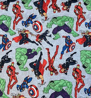 Licensed MARVEL DC Avengers Comics Cotton Fabric Material HULK IRON MAN THOR • 4.50£