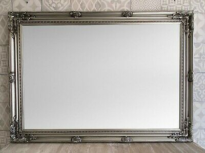£79.95 • Buy ANTIQUE SILVER ORNATE EXTRA LARGE WALL MIRROR - Size 42  X 30  (105 Cm X 75 Cm)
