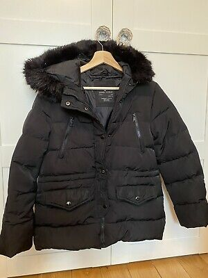Hooded Down ZARA Coat  Black GIRLS Size 13-14years • 24.99£
