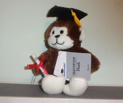 $ CDN8.45 • Buy  NEW WITH TAGS Dan Dee Graduation Plush BROWN 6  MONKEY  Cap & Diploma FREE SHIP