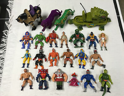 $82 • Buy Large MOTU Lot Masters Of The Universe He-Man Vintage Figures Vehicles Cats