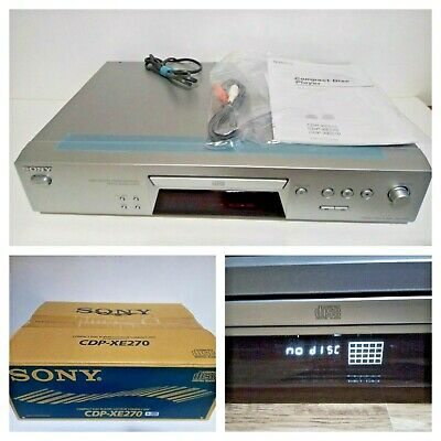 SONY Silver CD Compact Disc Player HiFi Separates CDP-EX270 Boxed IMMACULATE • 74.99£