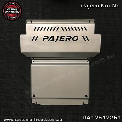 AU325 • Buy Pajero NM-NX  4mm 2 Piece Stainless Bash Plate - Heavy Duty By Custom Offroad