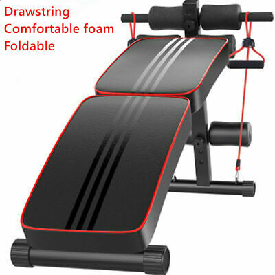 £37.98 • Buy Multi Adjustable Sit Up Weight Bench Incline Decline Lifting Barbell Gym Workout