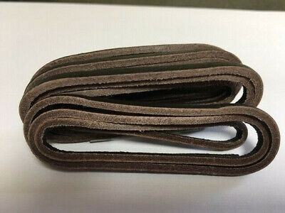 County Dark Brown Leather 3.5mm Square Cut Deck Shoe/Boot Laces Thong 120cm. • 2.99£