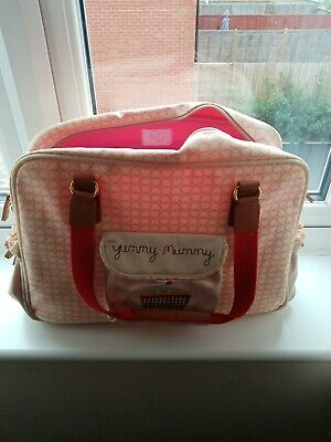 Yummy Mummy Changing Bag With Pink Lining Rare Design Used • 5£