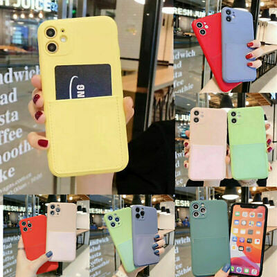AU9.98 • Buy CARD HOLDER Case For IPhone 12 11 Pro Max XR 7 8 X Shockproof Cover Wallet Money