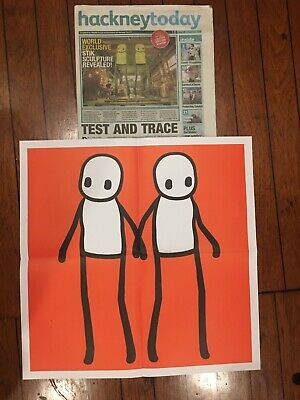 Stik Poster From Hackney Today (newspaper Included), Red. • 150£