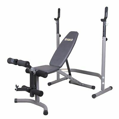 £138.20 • Buy Body Flex Sports 2 Piece 5 Position Adjustable Steel Olympic Weight Bench Set