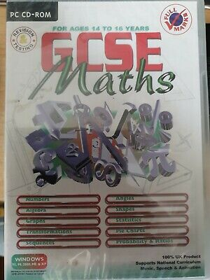 Full Marks GCSE Maths PC CD-ROM, Free Postage, A8 • 3.99£
