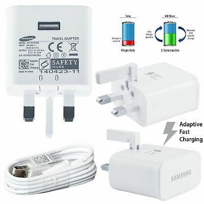 $ CDN10.30 • Buy Genuine Samsung Galaxy S8 S9 S10 Plus Note 8 9 10 Fast Mains Plug Charger Cable