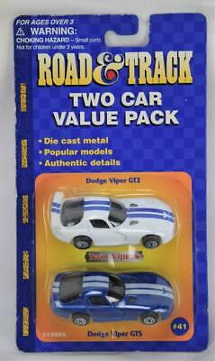 $ CDN8.76 • Buy Road & Track Maisto Two Car Value Pack Die Cast Dodge Viper GT2 & GTS NOC